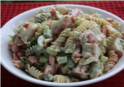 #colourful #seafood #pasta #salad http://www.foodfood.com/recipes/colorful-seafood-pasta-salad/