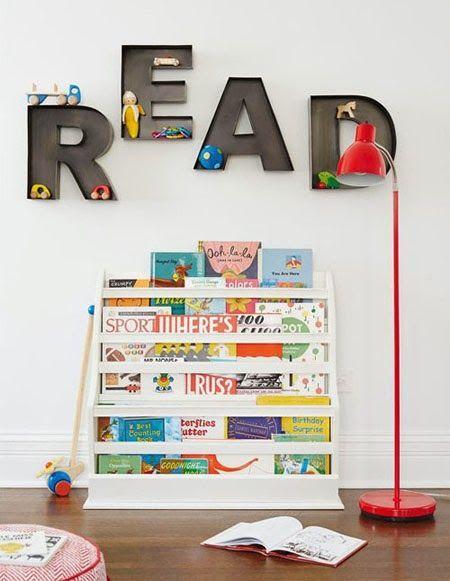 """Foto """"pinnata"""" dalla nostra lettrice Manù mommo design: KIDS READING CORNERS."""