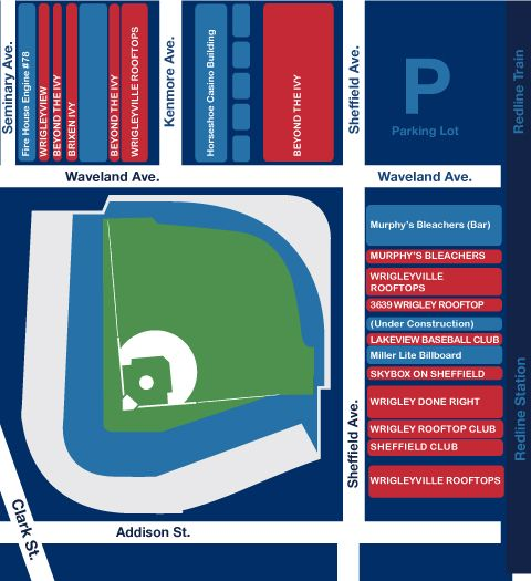 Wrigleyville Rooftop Map | Cubs Rooftop
