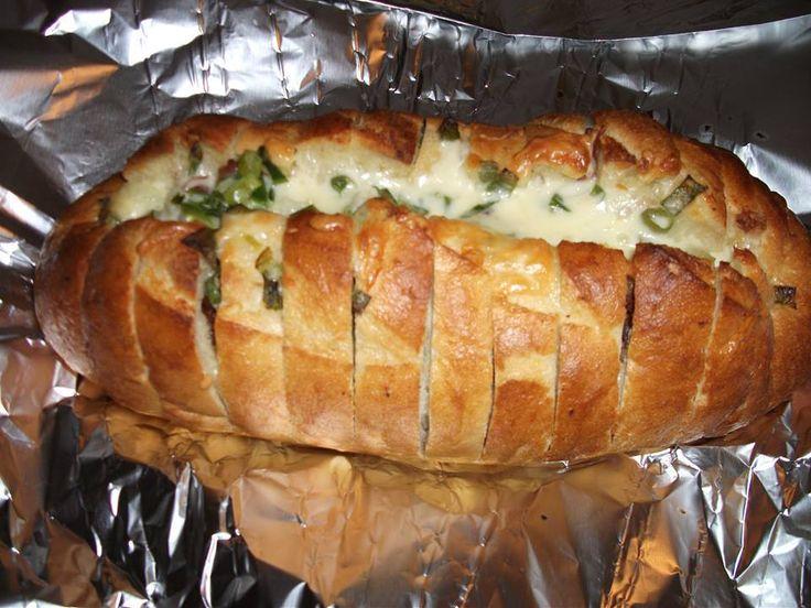Recette Pain farci à l'ail, bacon et fromage