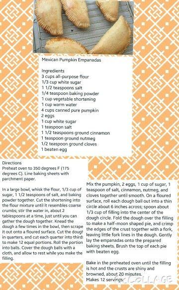 Mexican Pumpkin Empanadas