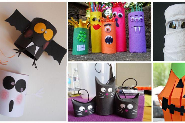 Plus de 30 bricolages d'Halloween à faire avec des rouleaux de papier hygiénique! WOW!