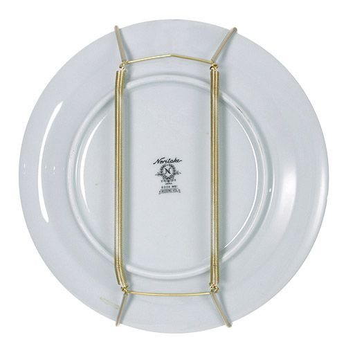 this plate display hanger is capable of holding decorative plates that measure between 75 and 95