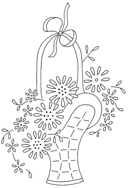 Free Vintage Pattern ~ flower basket 10