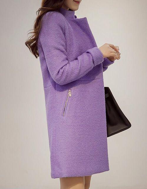 Automne Manteau de laine Manteau Femme 2015 femmes coréennes Manteau , Plus la taille hiver Manteau femmes femmes Veste Femme Casaco Feminino