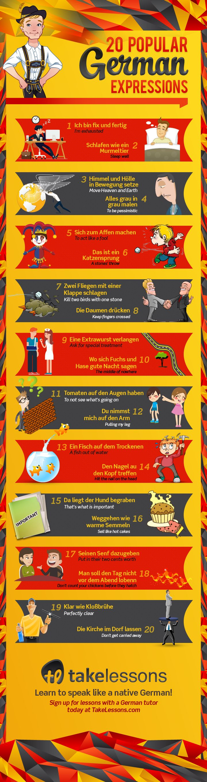 20 Popular German Expressions – And What They Mean
