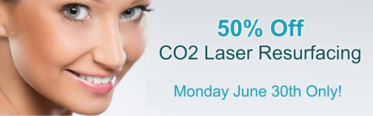 Don't miss AH Laser Aesthetics' 1 Day Only 50% Off CO2 Laser Resurfacing sale - Monday June 30th ONLY! #co2 #sale