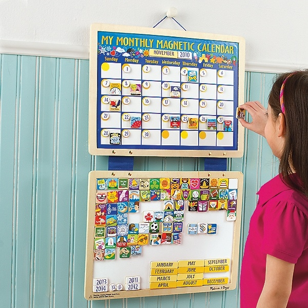 Kids Wall Calendar : Kids magnetic calendar your child will love creating and