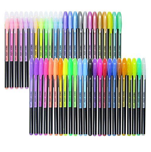 Fineliner Color Pen Set, Colored Fine Liner Sketch Drawing Pen, Pack of 48  Assorted Colors Gel Pens - Art Supply Colorful Gel Ink Pen School Office ...