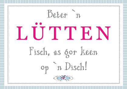 Plattdeutsch,Fisch,Lütt
