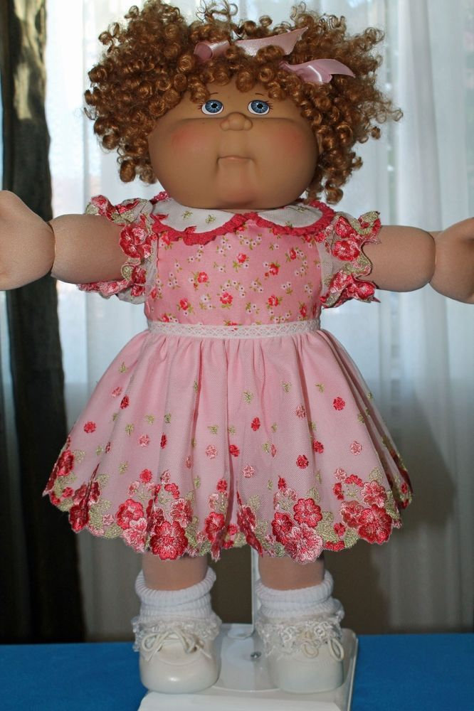 Cabbage Patch Doll Cloths- Pink Dress and matching panties - fits 16""