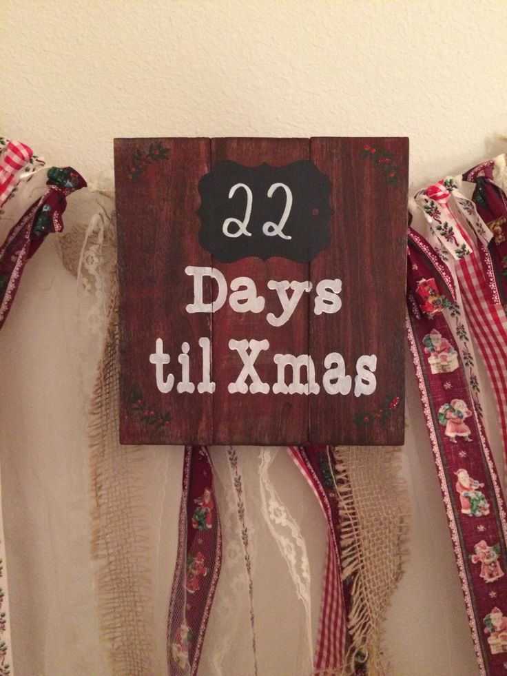 A personal favorite from my Etsy shop https://www.etsy.com/listing/482919032/days-til-xmas-countdown