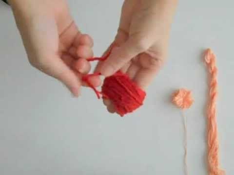 how to make pom pom balls with cardboard