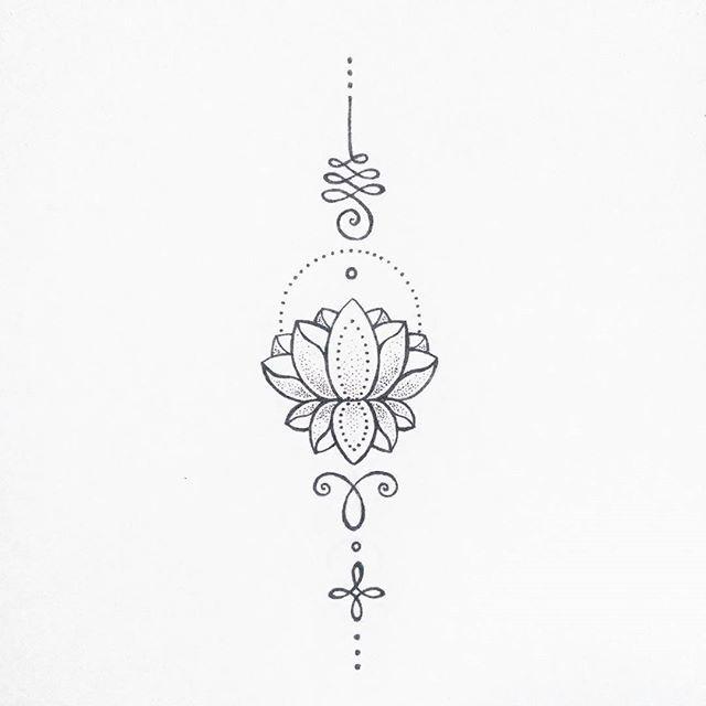 Unalome Tattoo Lotus