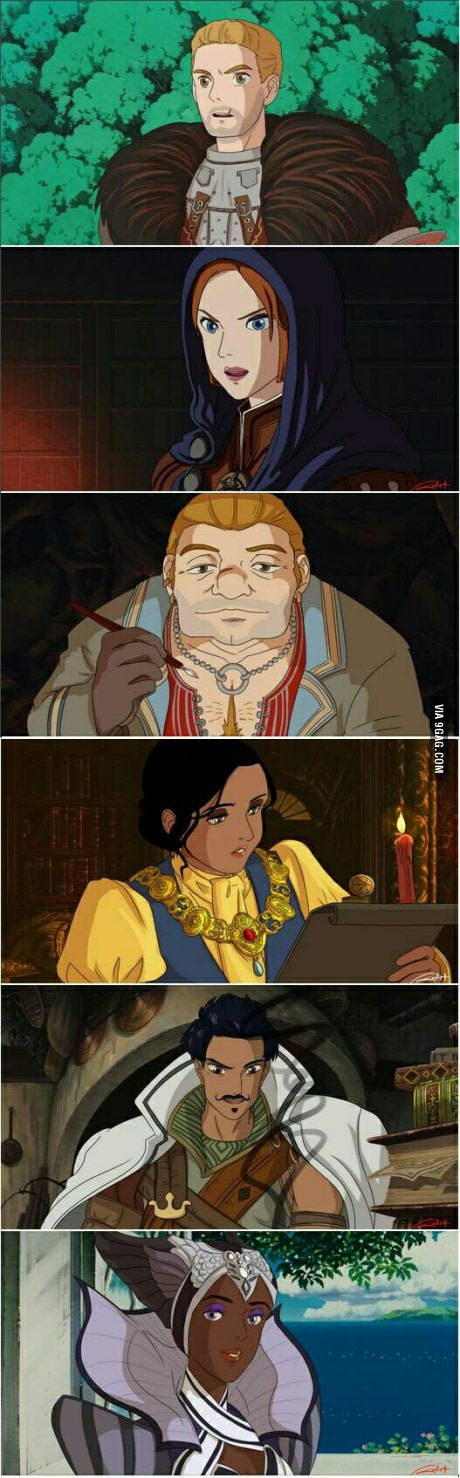 Dragon Age: Inquisition - Ghibli style ---OMG this looks like a cartoon from the early 90's. I wish this was a real thing!