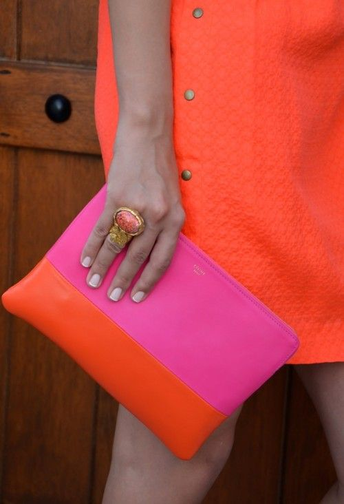 Pink And Orange Fashion Shoes Handbags In 2018 Pinterest