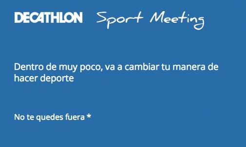 Dentro de poco, va a cambiar tu manera de hacer deporte  https://sportmeeting.decathlon.com