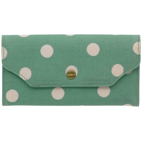 Cath Kidston Folded Button Zip Wallet , Green ($53) ❤ liked on Polyvore featuring bags, wallets, green, zipper bag, fold over wallet, zip coin wallet, zipper wallet and folding wallet