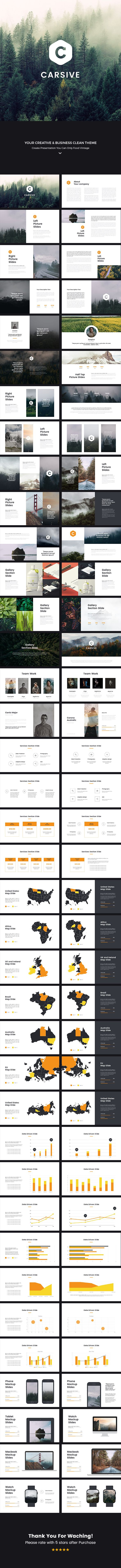 Carsive Clean Powerpoint Template 1920x1080 px #infographic #multipurpose