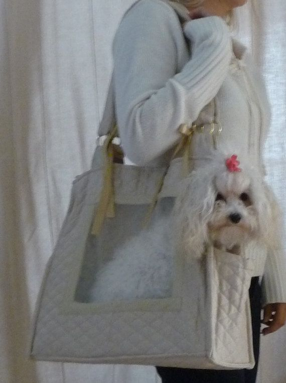 DOG carrier Dog on the go carrier by helenescustomdesigns on Etsy, $65.00