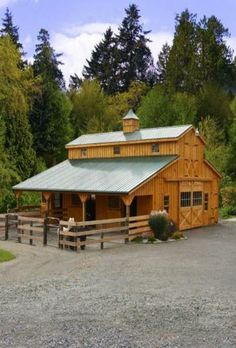 A New Barn... I'd like to have one just like it because the mountains are close and the horse trails many...