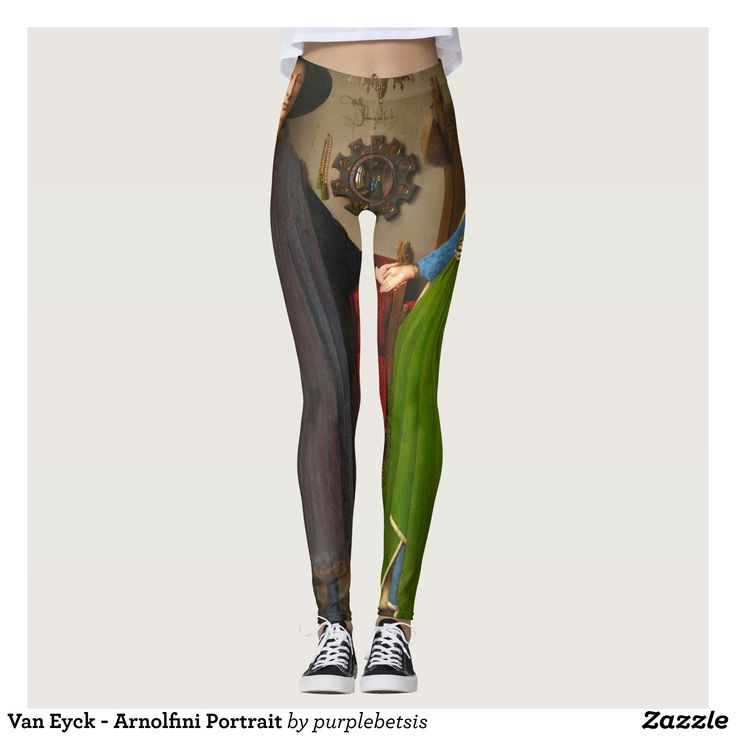 Van Eyck - Arnolfini Portrait Leggings : Beautiful #Yoga Pants - #Exercise Leggings and #Running Tights - Health and Training Inspiration - Clothing for #Fitspiration and #Fitspo - #Fitness and #Gym #Inspo - #Motivational #Workout Clothes - Style AND #comfort can both be possible in one perfect pair of custom #leggings. #Van Eyck - Arnolfini Portrait Leggings was crafted made with care each pair of leggings is printed before being sewn allowing for #fun and #creative designs on every square…