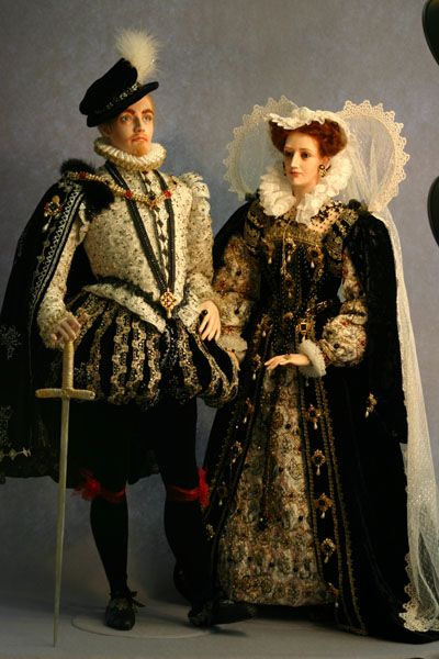 Victoria Cairns, Lady of Finavon, who crafts the most exquisite historical character dolls