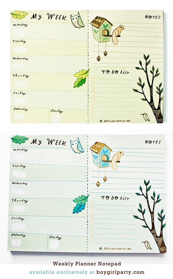 "Master your week with this Weekly Planner 6x8"" notepad from #boygirlparty: http://shop.boygirlparty.com http://boygirlparty.etsy.com  https://www.etsy.com/listing/172159359/2015-weekly-calendar-notepad-mousepad"