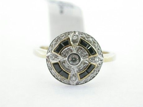 Shiny Pretty Things   Kay's Jewelers - Onyx and Diamond Ring - MJ19194