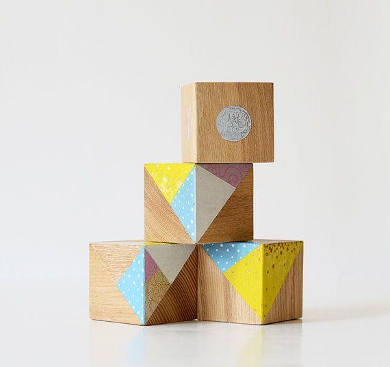 OOAK / Wooden blocks / Wooden home decor / Wooden art / by Lapalai
