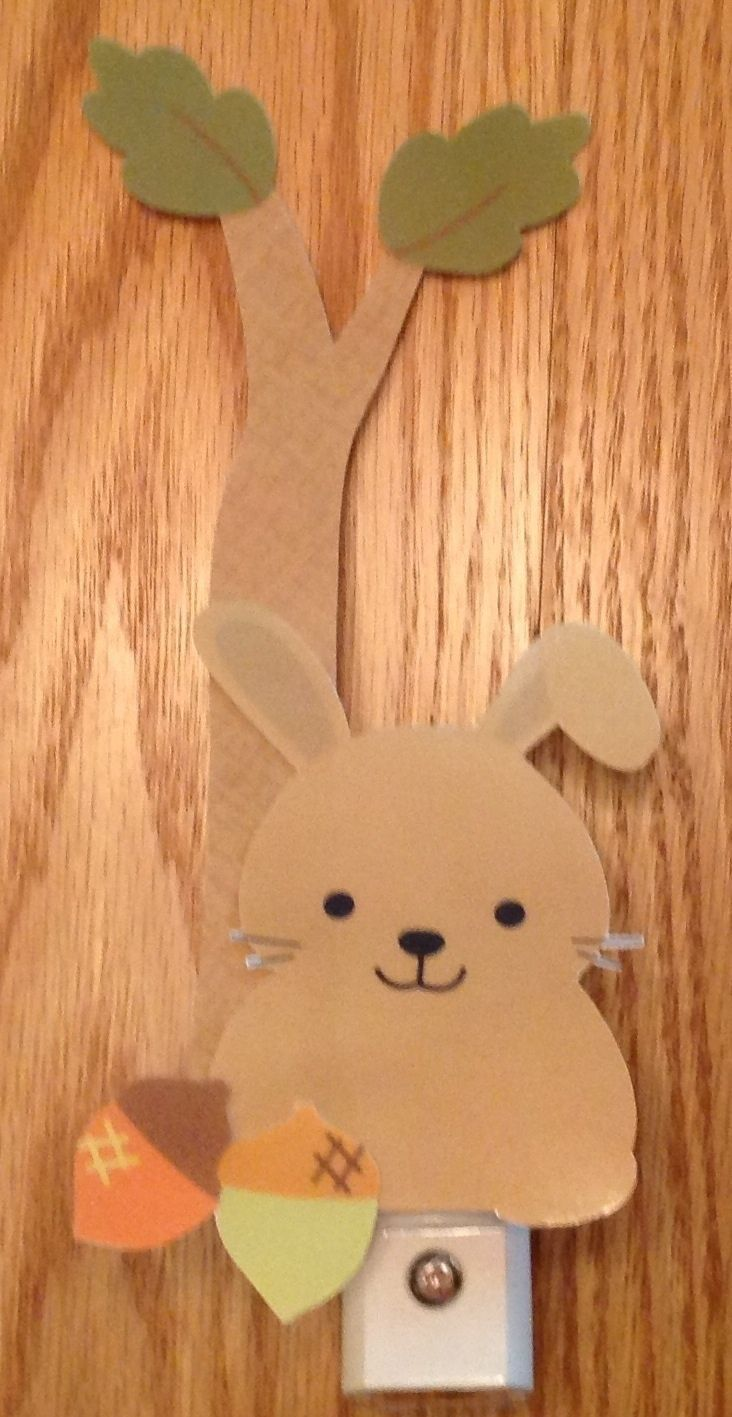 Night lights nursery - Lambs And Ivy Echo Bunny Nursery Night Light Adorable Handcrafted Ebay