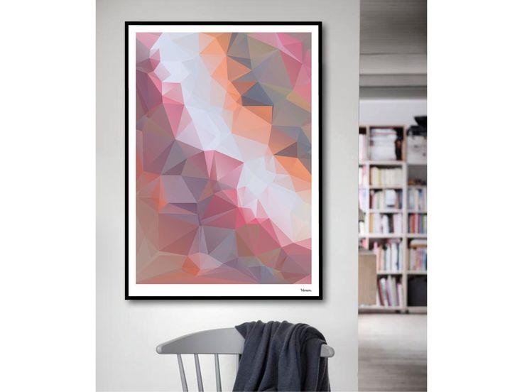 Gamba / Aquarell, Poster, Kunstdruck, skandinavisch, Bilder, Deko, Papier, Hochzeit, Pastell, Valentinstag, geometrisch, Sommer, Frühling
