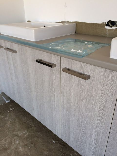 Yellow Dandy : House Update:  laminex Bleached Wenge bathroom cabinets