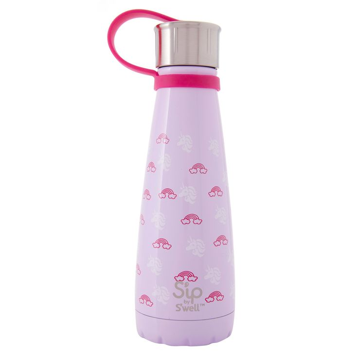 S'ip by S'well 10oz Stainless Steel Insulated Water Bottle - Unicorn Dream, Purple