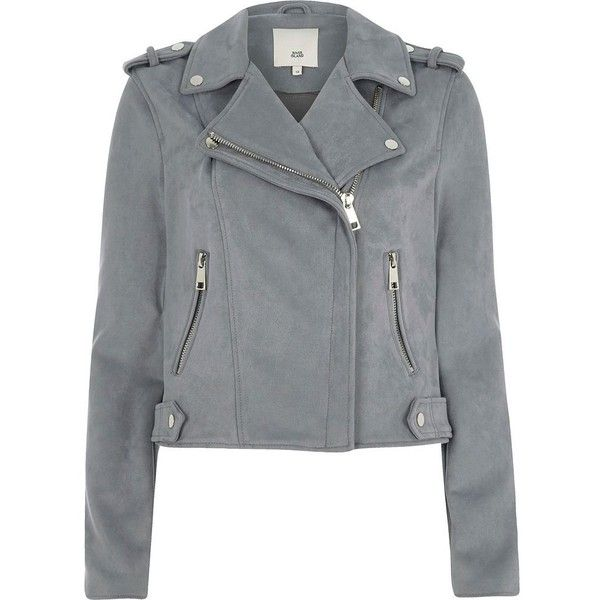 River Island Blue faux suede biker jacket ($120) ❤ liked on Polyvore featuring outerwear, jackets, blue, coats / jackets, women, long sleeve jacket, motorcycle biker jacket, biker jacket, motorcycle jacket and moto biker jacket