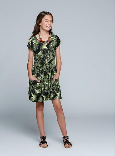 Urban Angel Leaf Skater Dress