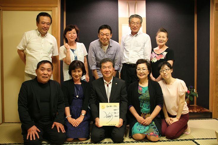 Norio Fujishiro information: 9月 2014 2014年9月1日月曜日  人気アナウンサー 小田切千さん ありがとう! 私の尊敬する自慢の友人、人気アナウンサー小田切千さんが山深い我がアトリエに来てくださいました。  人気番組「のど自慢」が小美玉市での放送があったため、自由・休憩時間を利用し、訪問してくださいました。何年ぶりかでお会いし、さすが日本一の名司会になっており、  会った瞬間、オーラの大きさに驚きました。僕も負けずにがんばろう!  しみじみと思いました。  さすが日本一のアナウンサー小田切千さま
