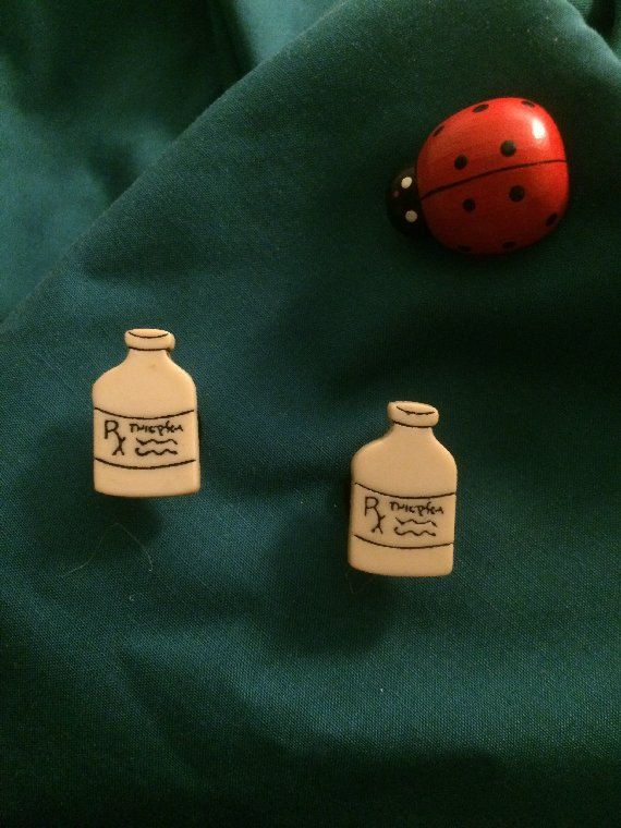 Medical RX Prescription Bottles Pharmacy Shoe Charms Croc Shoe Charms Jibbitz sold on Etsy Shop GardenLadybugWishes