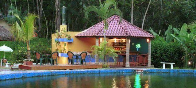 Foto de Pousada Das Cachoeiras em  Ubatuba/SP:  Lanchonete em frente a piscina natural
