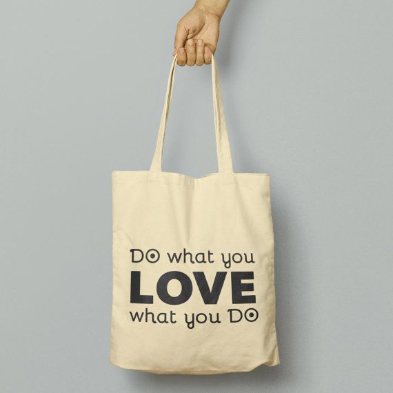 Do What You Love Tote BagReusable Shopper by FreshTshirtCo on Etsy