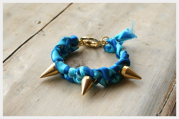 Spike Bracelet DIY : DIY Fashion by Trinkets in Bloom