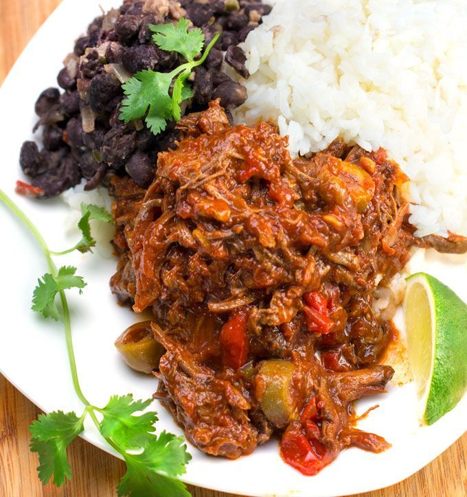 Slow Cooker Ropa Vieja: Cuba's famously delicious shredded beef stew with peppers