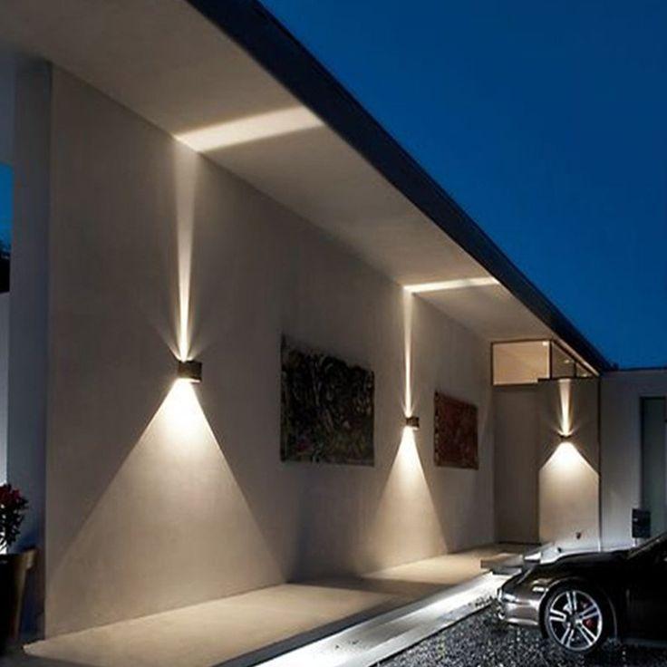 inhd Boîte applique murale extérieur LED Effet Lampe murale Lampe LED Lampe Lumière Filtre avec 2 LED Protection IP54 Adjustable, noir, Epistar LED 230.00 voltsV: Amazon.fr: Luminaires et Eclairage