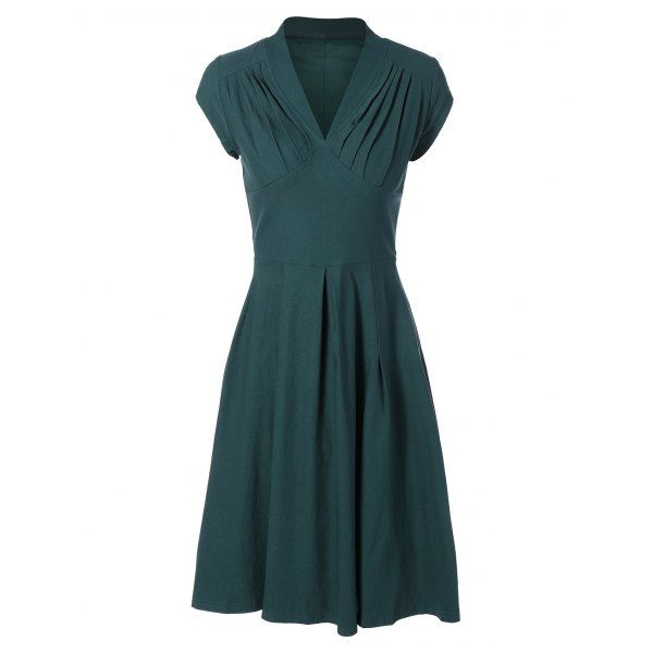 Summer Ruched Chest Swing Dress