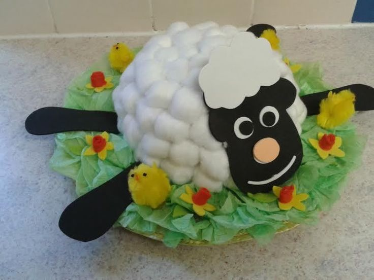 Spring Lamb Handmade Easter Bonnet Hat Girls/Boys