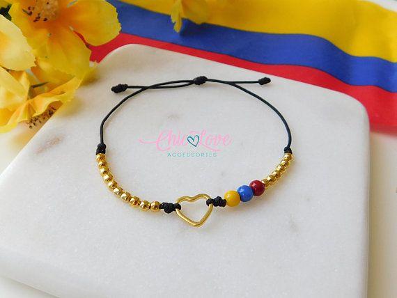 vendido en todo el mundo personalizadas nueva temporada Ref35, Colombian Bracelet with Small Heart, Pulsera de ...