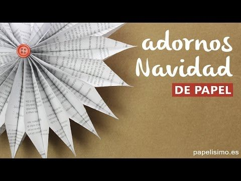 Adornos navideños de papel reciclado - YouTube