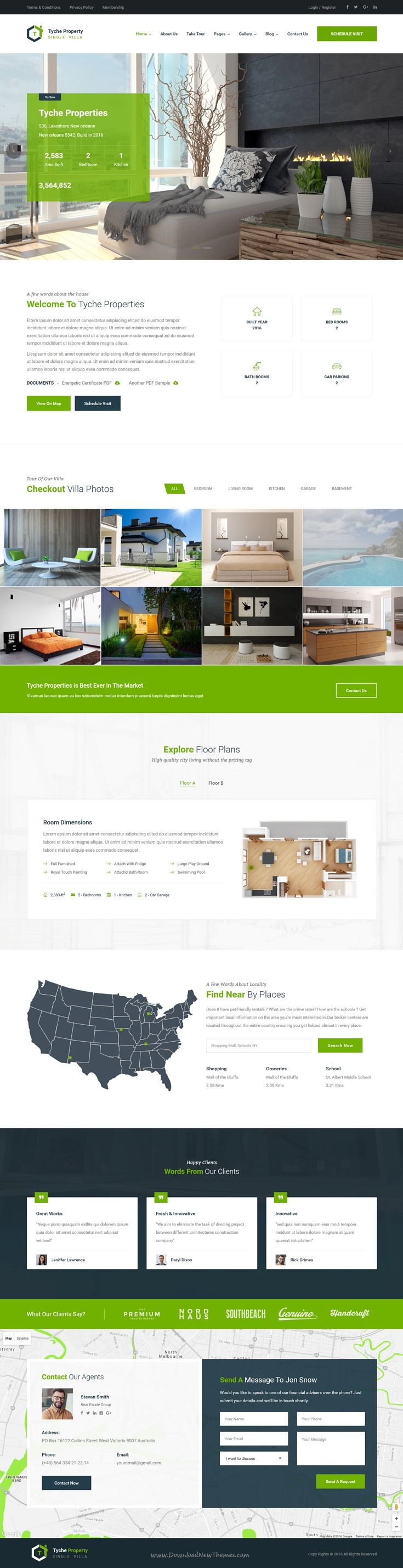 Tyche Properties - Single Property Real Estate HTML Template