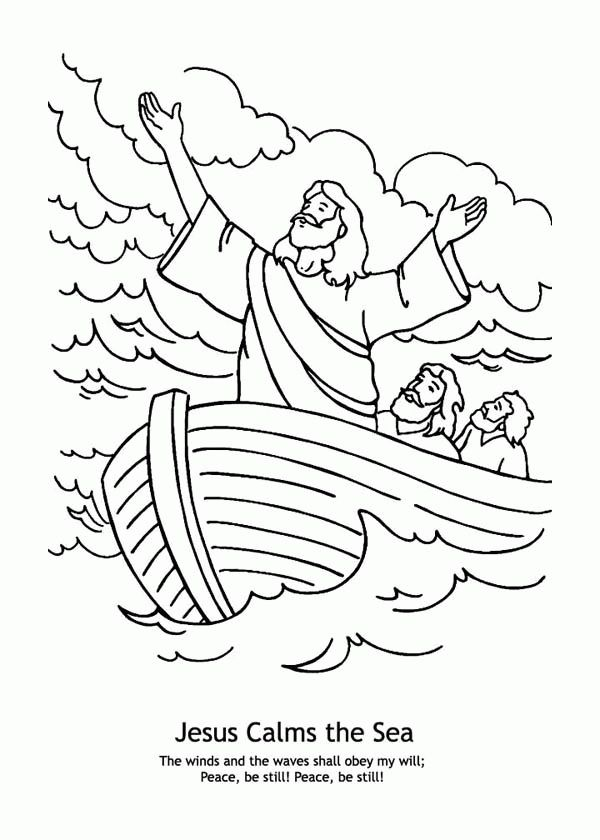Download or print this amazing coloring page: Jesus Calms ...