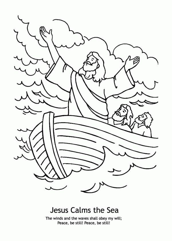 Jesus Calms The Storm Coloring